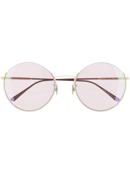 Okulary przeciwsłoneczne dla wzroku okrągły z logo Bottega Veneta Eyewear