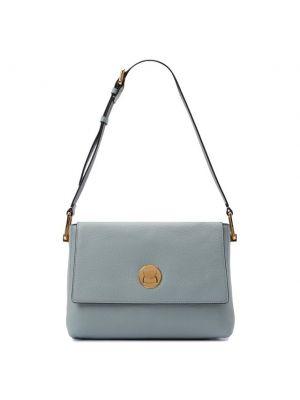 Голубая кожаная сумка Coccinelle