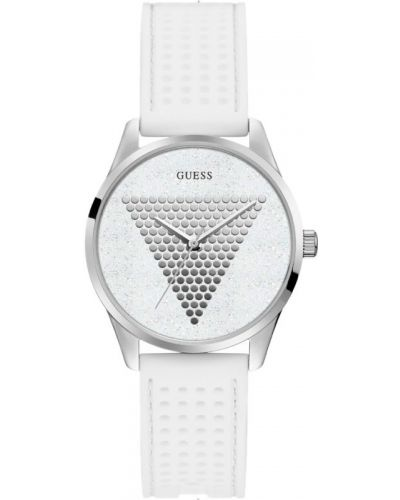 Водонепроницаемые часы кварцевые серебряный Guess