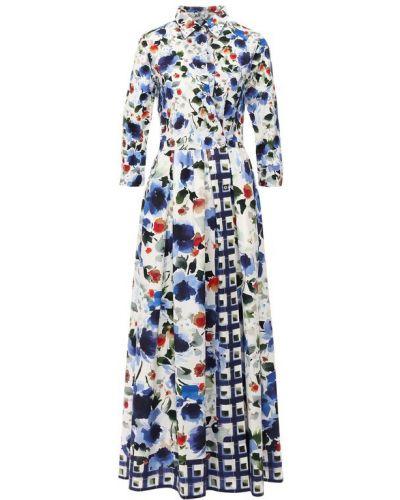 Хлопковое платье - синее Sara Roka