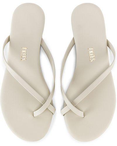 Szare sandały skorzane Tkees