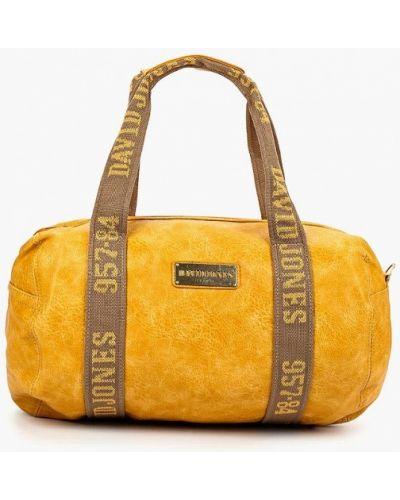 Кожаная сумка дорожняя из искусственной кожи David Jones