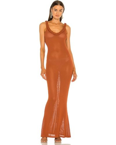 Льняное пляжное платье на каблуке Bronx And Banco