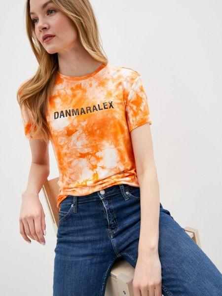Футбольное оранжевое поло Danmaralex