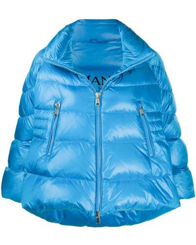 Пуховая синяя куртка с карманами Ermanno Ermanno