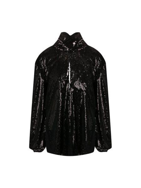 Блузка с пайетками кожаная Racil