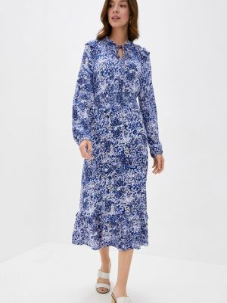 Повседневное платье синее весеннее Marks & Spencer