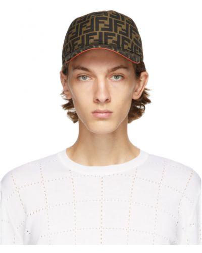 Czarna czapka na rzepy Fendi