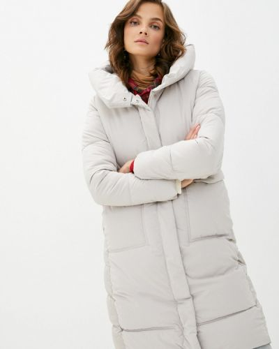 Бежевая теплая зимняя куртка Liana