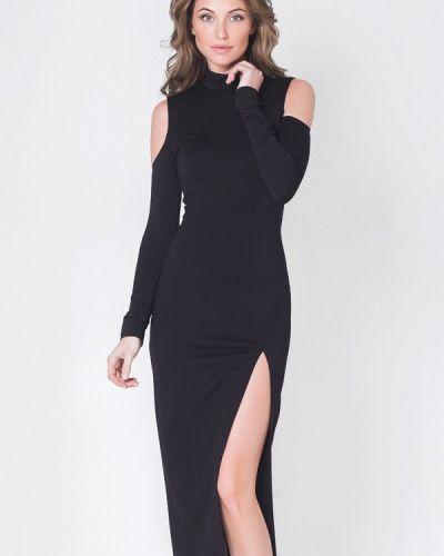 Коктейльное платье осеннее черное Olga Skazkina