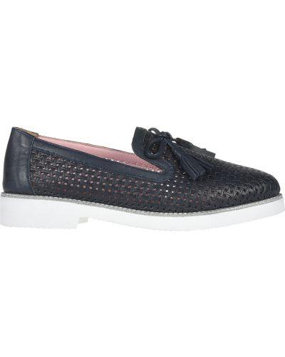Кожаные туфли - синие Lab-milano