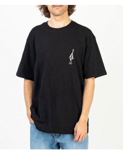 Свободная черная футболка Volcom