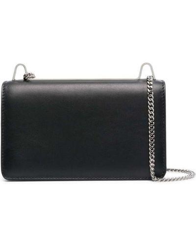 Czarna torebka na łańcuszku skórzana z printem Ambush
