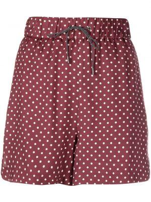 Красные шелковые шорты на шнурках Fabiana Filippi