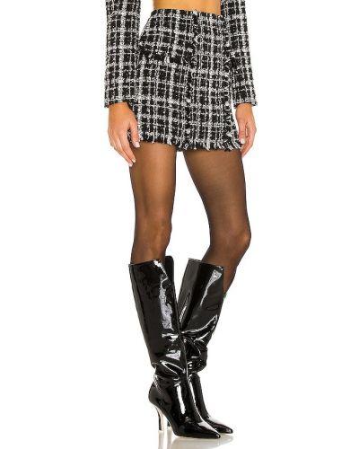Черная юбка твидовая с карманами Ronny Kobo