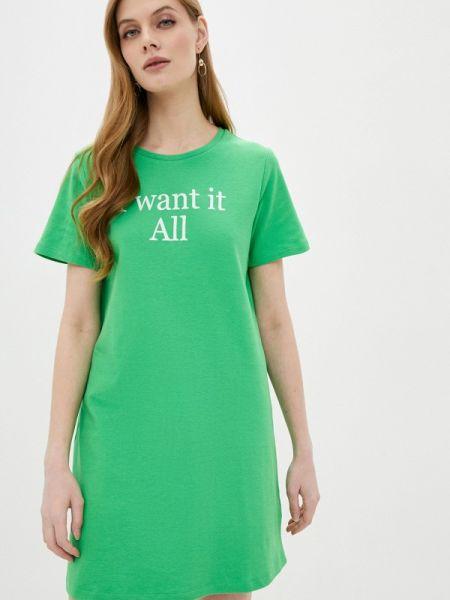 Футбольное зеленое платье Sh
