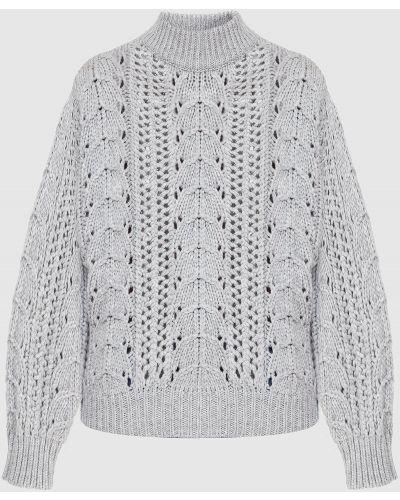 Кашемировая серая свитер с пайетками Brunello Cucinelli