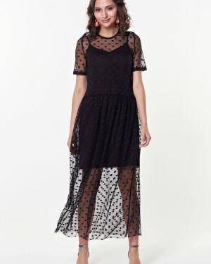 Вечернее платье летнее в горошек Valentina