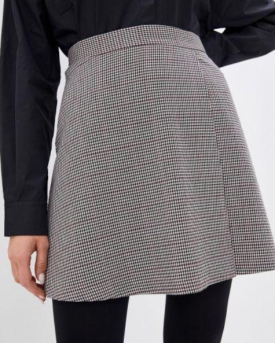 Коричневая юбка свободного кроя Trendyangel
