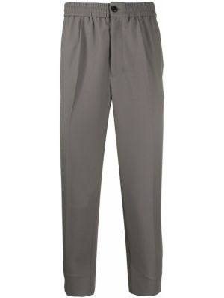 Spodnie wełniane zapinane na guziki Ami