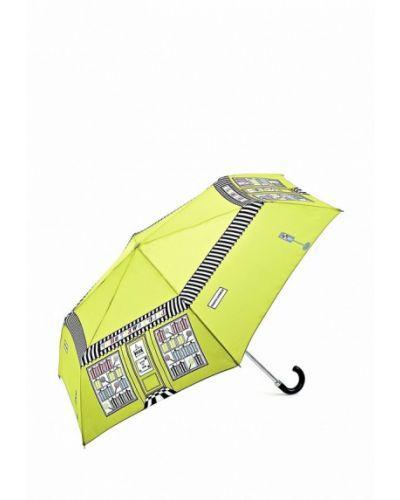 Зонт зеленый складной Fulton