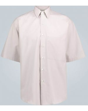 Koszula krótkie z krótkim rękawem karmazynowy przeoczenie Auralee