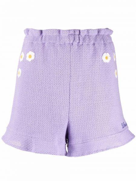 Фиолетовые хлопковые шорты Mc2 Saint Barth