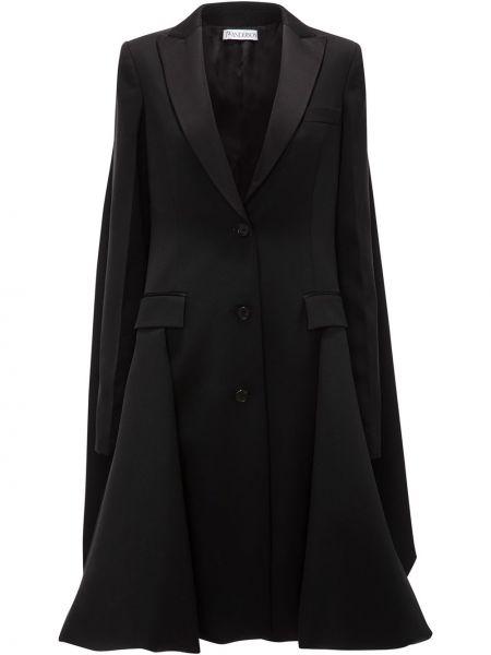 Шерстяное пальто - черное Jw Anderson