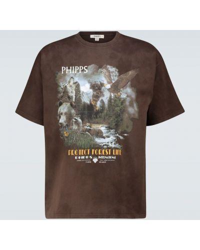 Ватная хлопковая коричневая рубашка Phipps