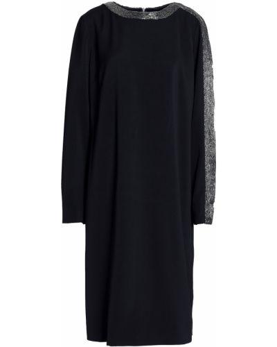 Черное платье из крепа с бисером Amanda Wakeley