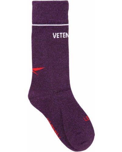 Носки с люрексом - фиолетовые Vetements
