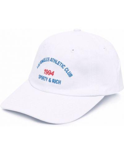 Biała czapka z daszkiem Sporty And Rich