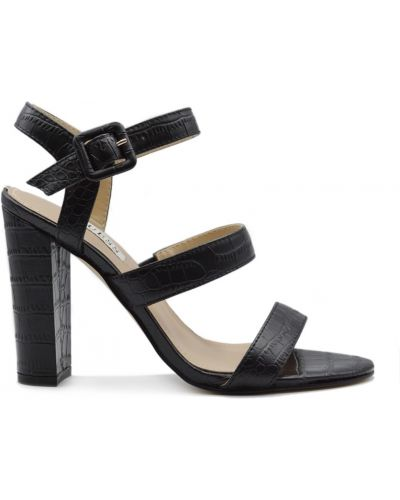 Czarne sandały skórzane Guess