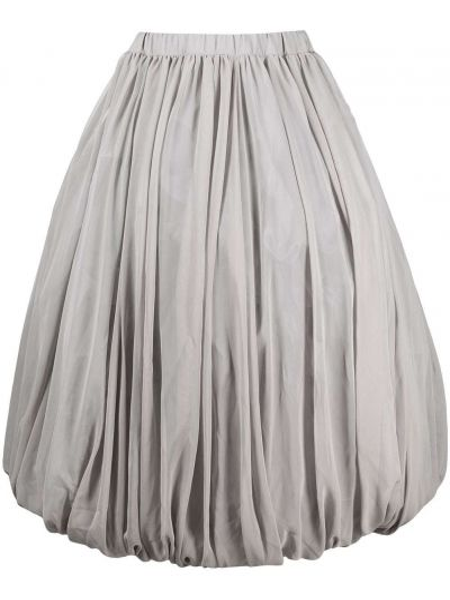 Серая с завышенной талией плиссированная юбка Comme Des Garçons