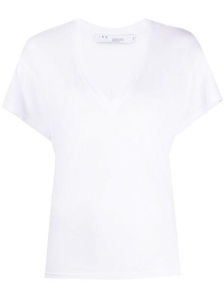 Прямая белая футболка с вырезом Iro