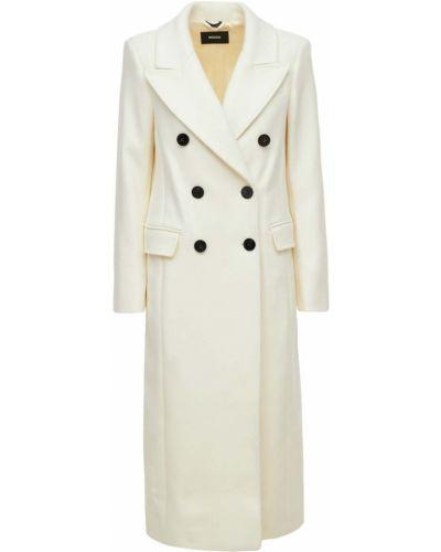 Белое кашемировое пальто Mackage