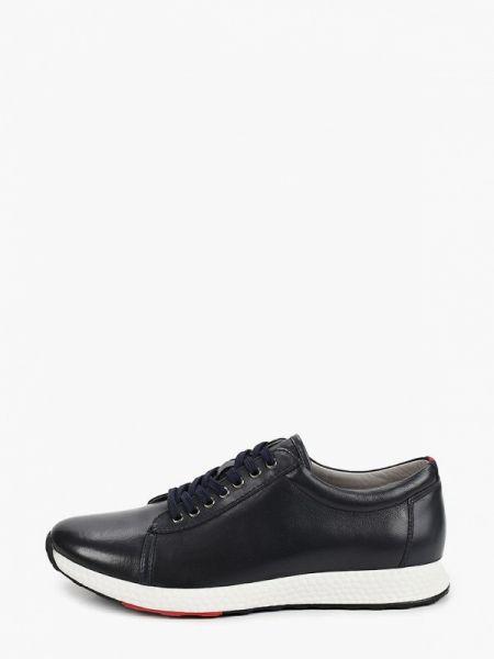 Кожаные синие кроссовки Guido Grozzi