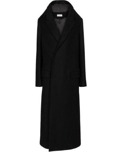 Z kaszmiru czarny płaszcz Balenciaga