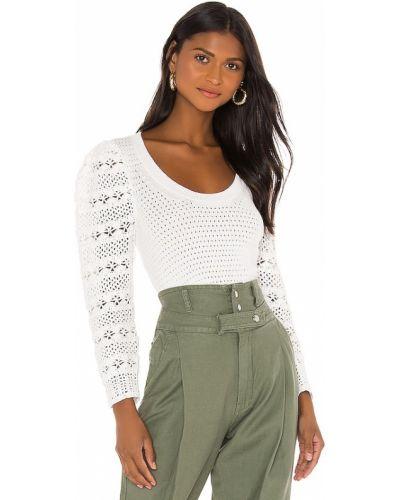 Biały sweter bawełniany Rebecca Taylor