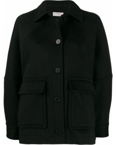 Черная длинная куртка Alberto Biani