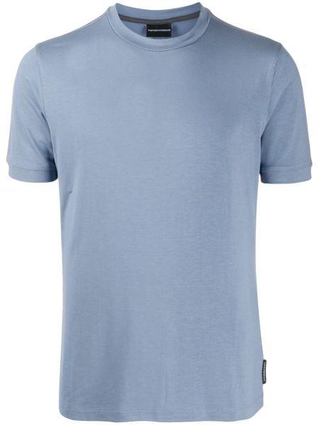 Koszula krótkie z krótkim rękawem wyposażone niebieski Emporio Armani