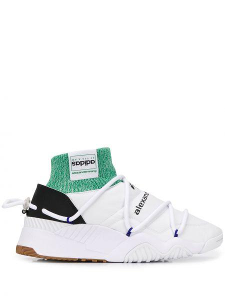 Слипоны белые на шнуровке Adidas Originals By Alexander Wang