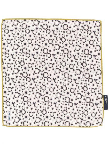 Prążkowany szalik z jedwabiu z printem Lardini