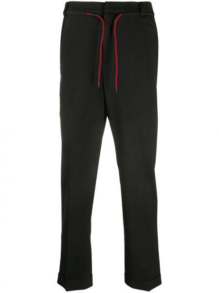 Spodnie z wiskozy - czarne Mcq Alexander Mcqueen