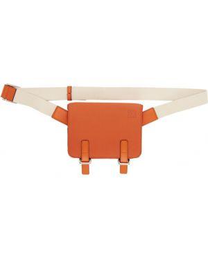 Podołek torba pomarańczowy z zamkiem błyskawicznym Loewe