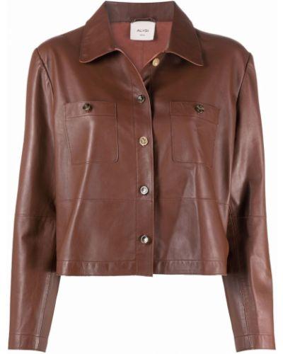 Brązowa klasyczna kurtka Alysi