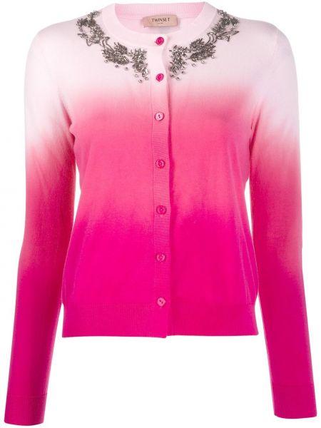 Кардиган длинный розовый Twin-set