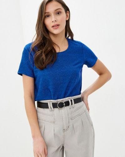 Синяя с рукавами футболка Scotch&soda