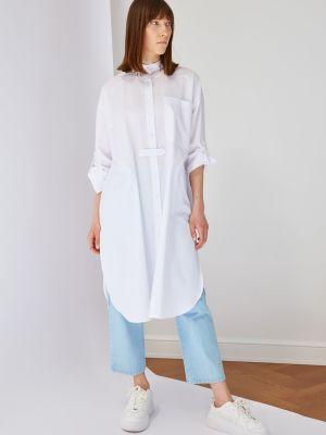 Biała tunika bawełniana Trendyol
