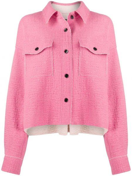 Шерстяной розовый пиджак оверсайз Isabel Marant